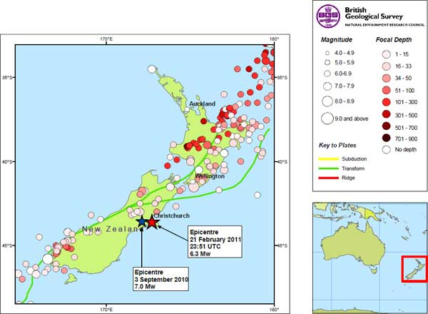 Where Is Christchurch New Zealand On The Map.Christchurch New Zealand Earthquake Magnitude 6 3 21 Feb 2011