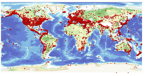 Is Earthquake Activity Increasing British Geological Survey BGS - Us earthquake map