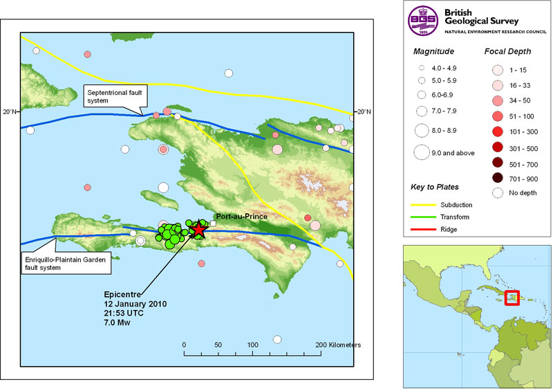 Haiti Earthquake 7 0 12 January 2010 British Geological Survey