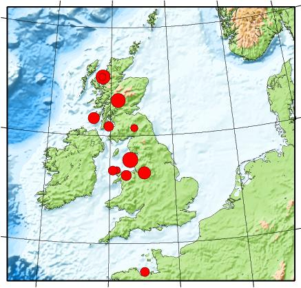 United Kingdom 50 Day Earthquake List